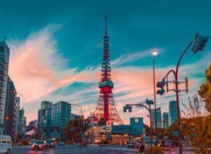 東京タワーと街並み